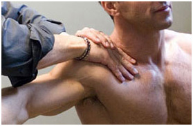 Patient receiving Active Release (ART) at Irvine Spine and Sport in Orange County, CA